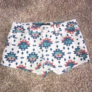 Aztec jean shorts